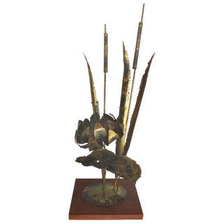 Mid-Century Brutalist Torch-Cut Brass Sculpture