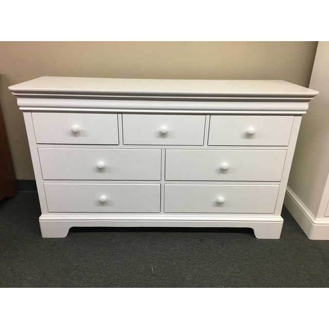 Stanley young america white 7 drawer dresser chairish - Stanley young america bedroom set ...