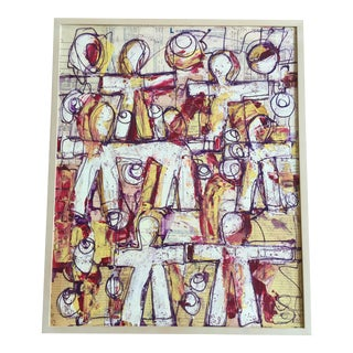 Hands Across America Mixed Media Painting