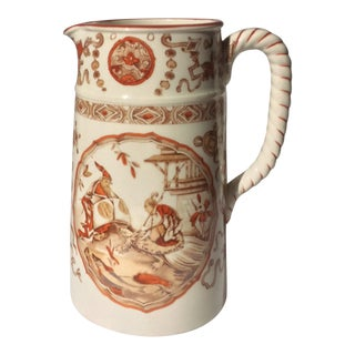 Antique Yeddo Pattern English Pitcher