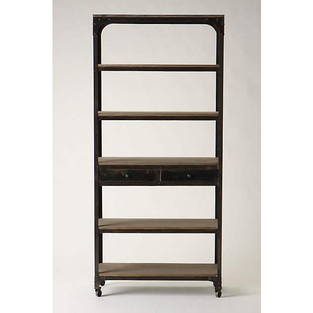 anthropologie decker tall 5 shelf bookcase chairish