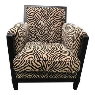 Classic Comfort Zebra Stripe Arm Club Lounge Chair