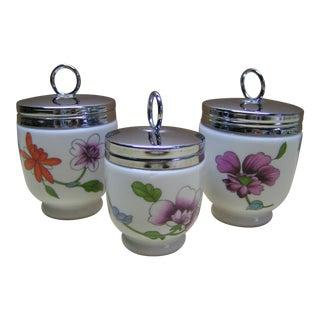 Vintage Royal Worcester Porcelain Egg Coddlers - Set of 3