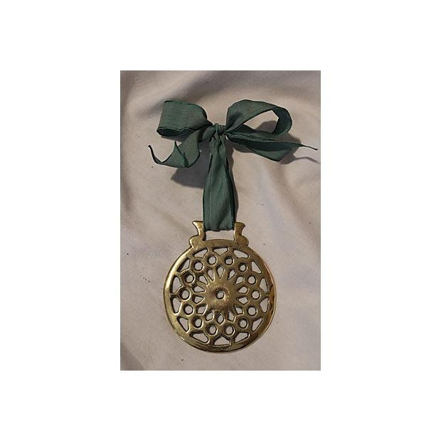 Image of Antique English Horse Brass Ornament