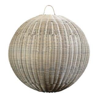 Faux Rattan Globe Lantern