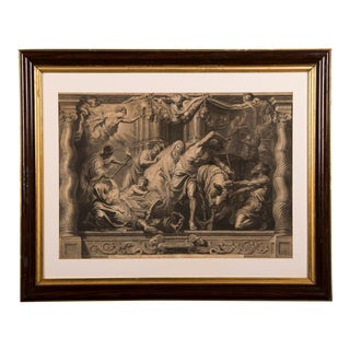 """The Triumph of Eucharistic Truth over Heresy"", an engraving of the painting by Peter Paul Rubens c.1800."