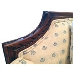 Image of Vintage Carved Cream & Blue Satin Settee