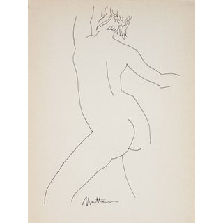Figure Line Drawing by R. Matteson
