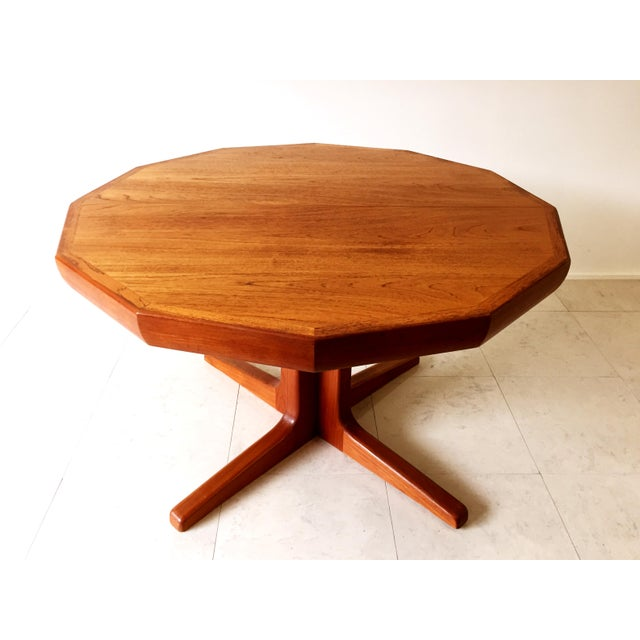 Vintage Danish Teak Extending Dining Table - Image 3 of 8