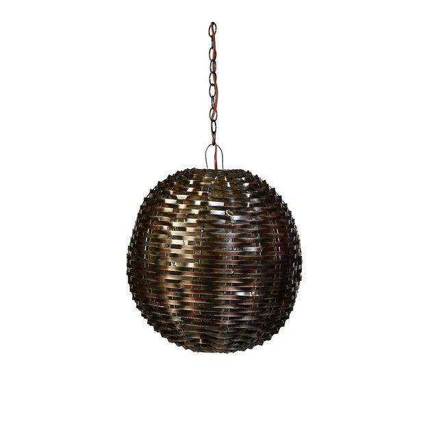 Industrial Metal Sphere Pendant Lamp - Image 1 of 2
