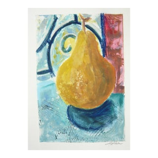 Golden Pear Monoprint