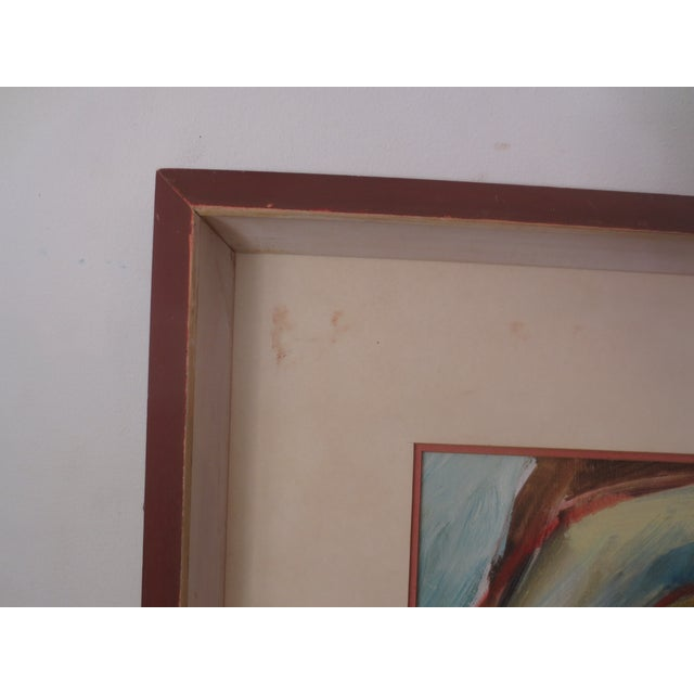 Circa 1970 Modernist Portrait Painting - Image 5 of 7