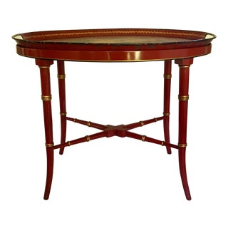 Antique Red Tray Table