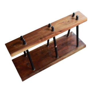 Mid-Century Walnut Live Edge Bench or Plant Stand