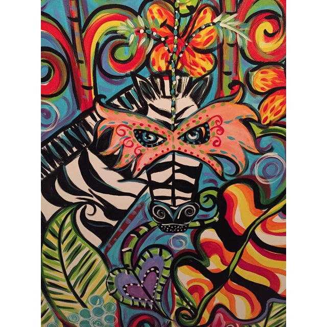 Image of 'The Zebra Pop' Paintings - A Pair