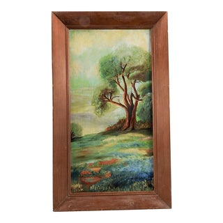 Bluebonnet Oil Landscape Painting