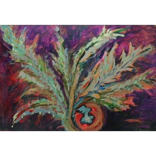 Abstract Flora Swirl Painting