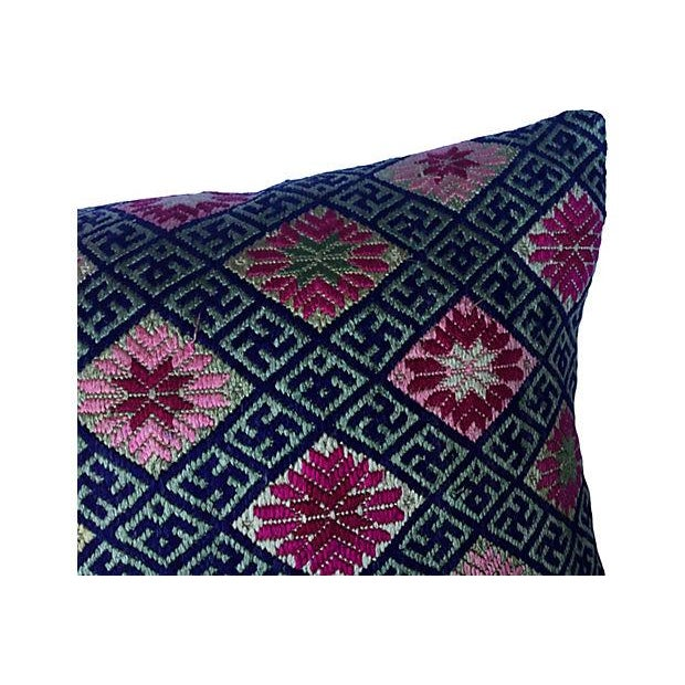 Double Happiness Silk Wedding Quilt Pillow - Image 3 of 7