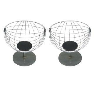 Pair of Belgian Modernist Lounge Chairs by Rudi Verelst