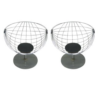 Pair of Belgian Modernist Lounge Chairs by Rudi Verelst