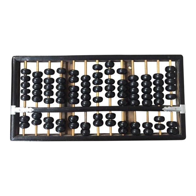 Vintage Black & Natural Wood Abacus - Image 1 of 4