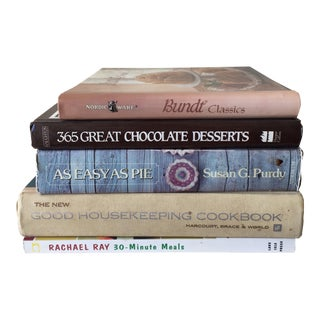 Modern & Vintage Cookbooks - Set of Five