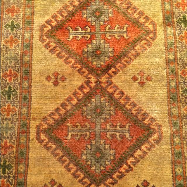 "Antique Turkaman Yellow Persian Rug - 2'1"" x 2'11"" - Image 5 of 6"