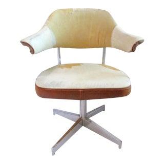 Mid-Century Hollywood Regency Swivel Chair