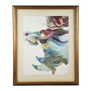 """I'Eau - Girl With Pinwheel"" Print"