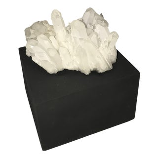White Quartz Crystal Cluster Bookend
