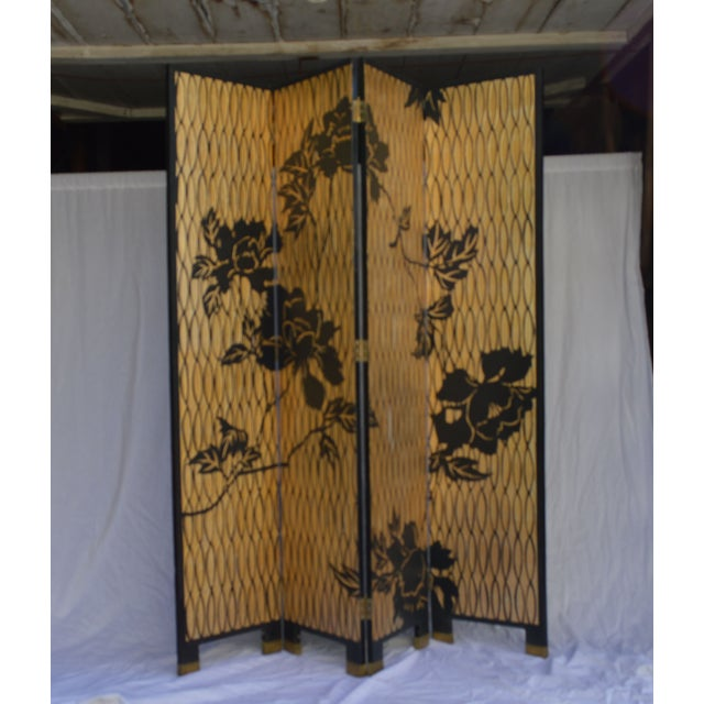 1960s Japanese 4 Panel Screen - Image 8 of 8