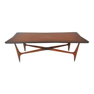 """Unique Mid-Century Modern """"X"""" Base Coffee Table"""