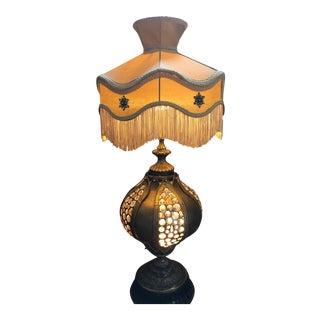 Antique Victorian Fringe Desk Lamp