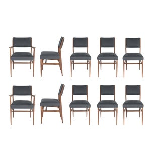 Set of 10 Maze Walnut Dining Chairs