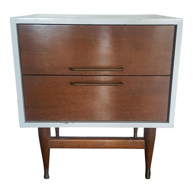 Image of Jens Risom Attributed Mid-Century Nightstand
