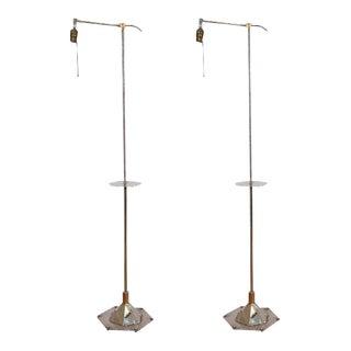 Art Deco Walter Kantack Floor Lamps - A Pair