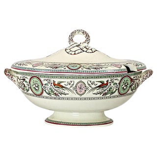 Antique French Chinoiserie Soup Tureen