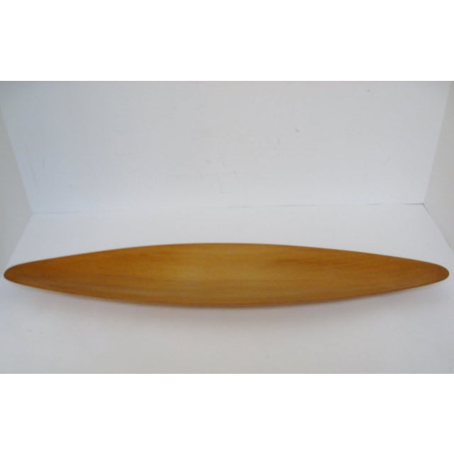 Image of Mid-Century Modern Oval Wood Tray