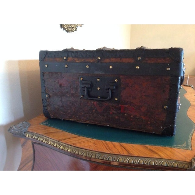 Vintage Louis Vuitton 3/4 Travel Steamer Trunk - Image 8 of 11