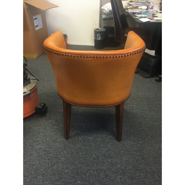 Image of Modern History Continental Leather Barrel Chair