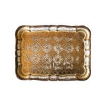 Image of Vintage Italian Gold Pressed Tray