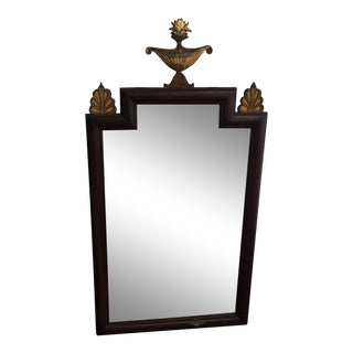 Antique and Gold Mahogany Mirror