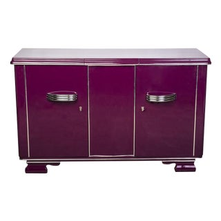 Streamlined Art Deco Sideboard in Plum