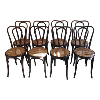 Antique Jacob & Josef Kohn Bentwood Chairs - Set of 8
