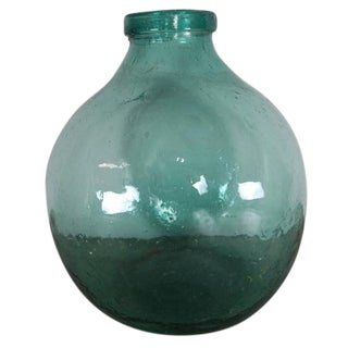 French Hand Blown Glass Jar