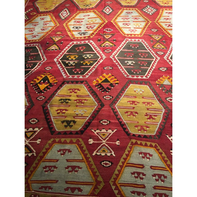 "Bellwether Rugs Vintage Turkish Kilim Rug - 8'8"" x 11'2"" - Image 8 of 9"