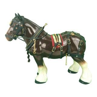 Brooks Brothers Porcelain Draught Horse Figure