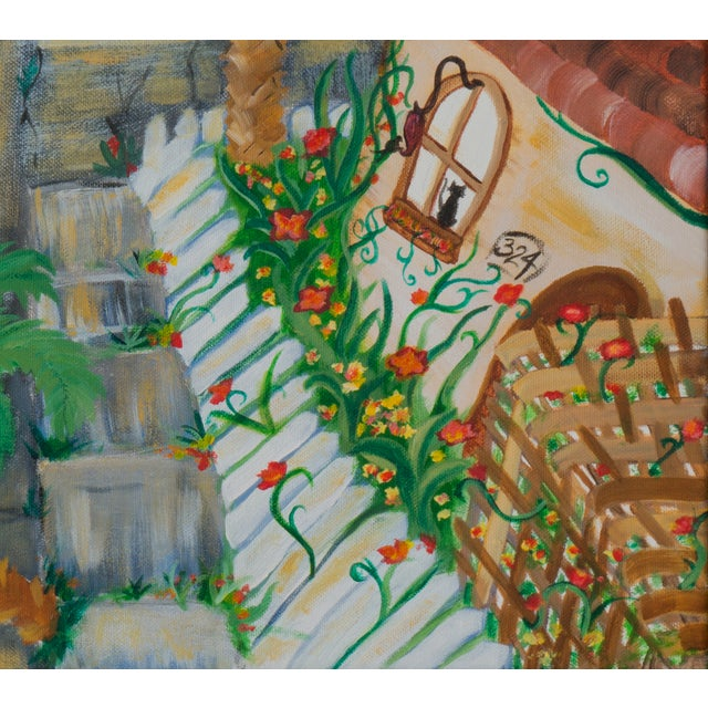 Image of West Side of Santa Cruz Acrylic Painting