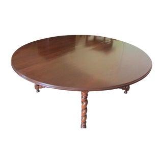 19th Century Solid Mahogany Circular Dining Table
