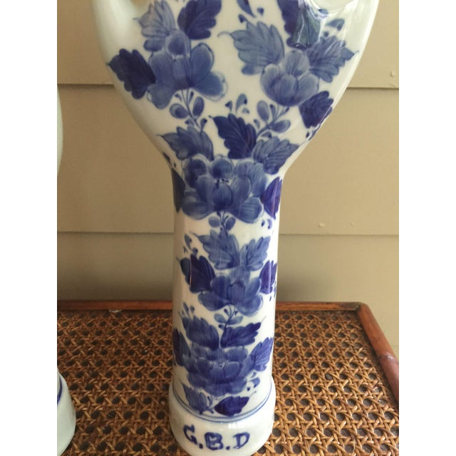 Image of Vintage Blue & White Hand Sculptures - A Pair